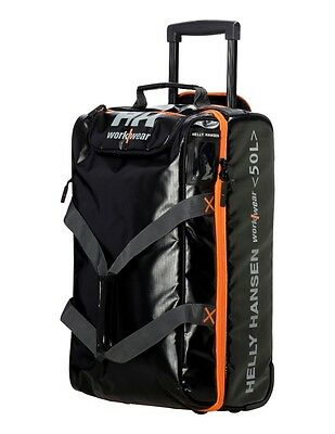 Helly Hansen Work Bag Trolley 50L Water Resistant Standard Black 79567