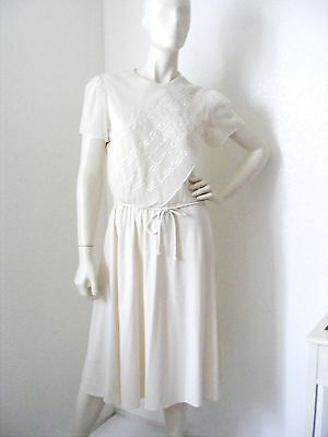 Vintage 1970s White Sheer Top dress with Glitter Designs
