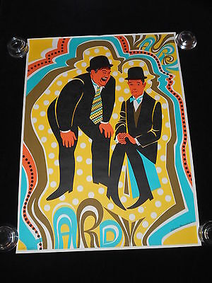 Stan Laurel Oliver Hardy Psychedelic 1971 Murray Sadee Ent.  Print Poster 20x28