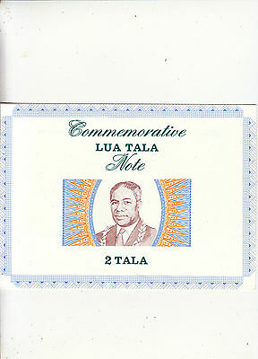 Samoa. 1990. 2 Tala Polymer Banknote in Official Folder. First Printing AAA Unc.
