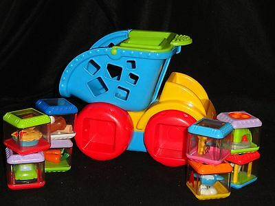 Fisher-Price Peek-A-Blocks -  Dump Truck With  Blocks