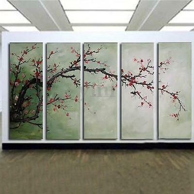 5Pcs Plum Blossom Oil Canvas Painting Art Picture Print Wall Home Decor Unframed