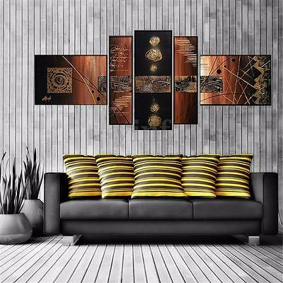 5Pcs Vintage Abstract Canvas Print Wall Art Painting Picture Home Decor Unframed