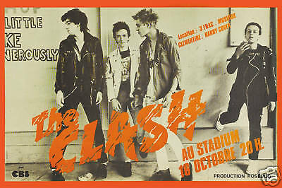 Awesome: The Clash at  Paris France Poster from 1979