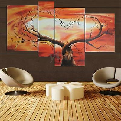 4Pcs Love Tree Modern Canvas Print Wall Art Painting Picture Home Decor Unframed