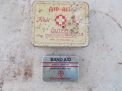 collectable old tin , first aid , medical