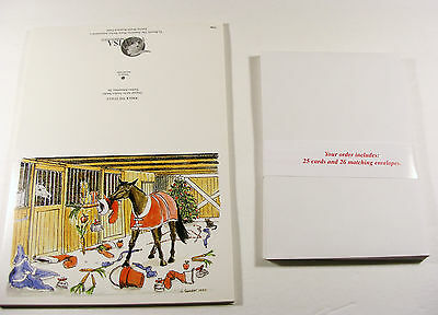 "18 American Horse Shows Association (AHSA) Christmas Cards  ""Wreck the Stalls"""