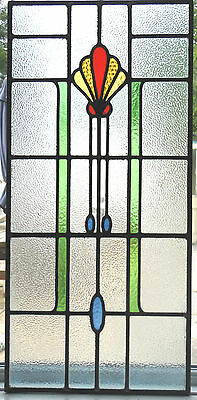 Ref Sg187 -  One Original Restored Stained Glass Panel