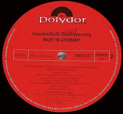 Sonderpressung: MADE IN GERMANY - Polydor  2809 017 - LP [NM]