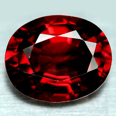 2.36 Ct Aaa! Natural! Red African Rhodolite Garnet Oval