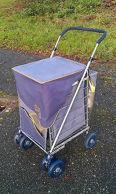 Caged SHOLLEY Cool Shopping Trolley - Sholley with a Fitted Insulated Cool Bag