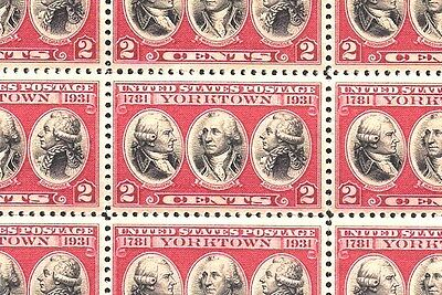 1931 - YORKTOWN - #703 Full Mint -MNH- Sheet of 50 Postage Stamps