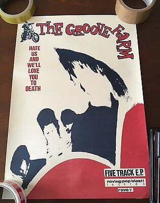 Vintage C86 Poster The Groove Farm Indiepop Sarah Subway Records