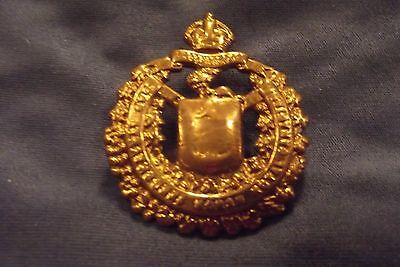 WW II/Pre WW II Brass Cap Badge To Lord Strathcona's Horse (Royal Canadians)