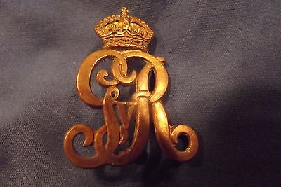 WW I CEF Brass Collar Badge To The Royal Canadian Regiment