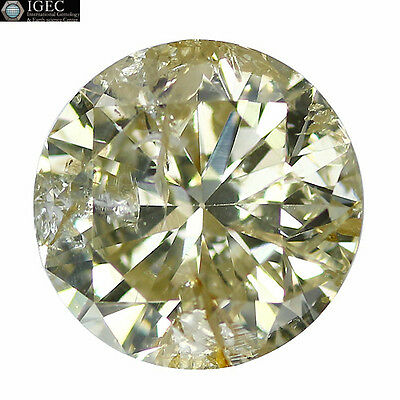 """1.61 Ct """"IGEC"""" CERTIFIED!! STUNNING LUSTER FANCY LIGHT BROWN NATURAL DIAMOND!!!"""