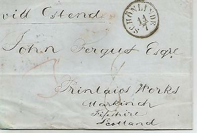 Schonlinde 1856 Cover To Markinch Scotland Mith Mileage Mark  Ref 202