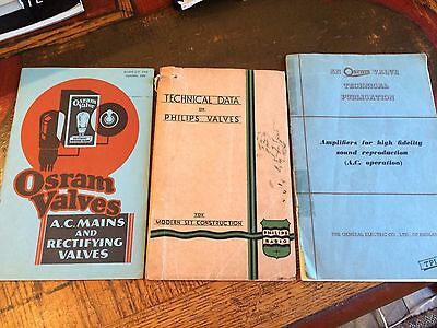 3 Valve Data Technical Booklets Books Manuals Osram And Philips