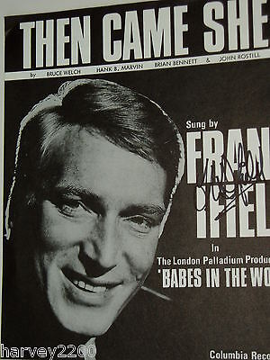 Frank Ifield......(Pop Music)...hand Signed Autograph On Sheet Music