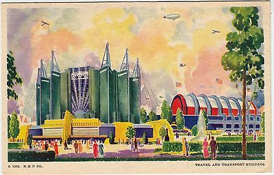 CHICAGO - World's Fair Exhibition - Travel & Transport  - 1933 used postcard