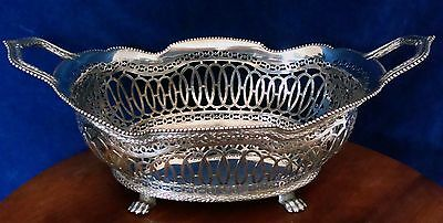 Vintage Extremely Good Victorian 930 Silver Bread Basket Importer Soloman Nyburg