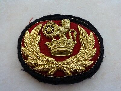 BR(M) Station Masters Cloth/Gilt Sew-On Cap Badge.