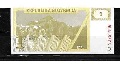 SLOVENIA #1a 1990 TOLAR XF USED OLD BANKNOTE BILL NOTE PAPER MONEY