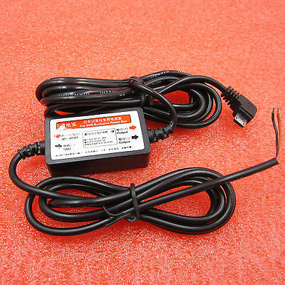 MICRO USB 12V to 5V Wire Cable Car Charger For Camera Recorder DVR Power Box L