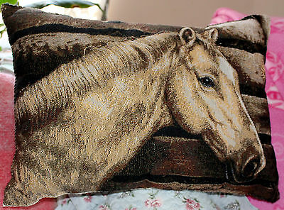 Vintage Horse Tapestry Pillow