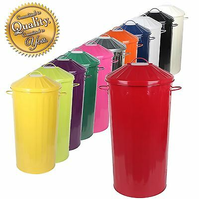 Metal 50 Litre Home Kitchen Colour Recycle Dustbin Rubbish Waste Bin with Lid