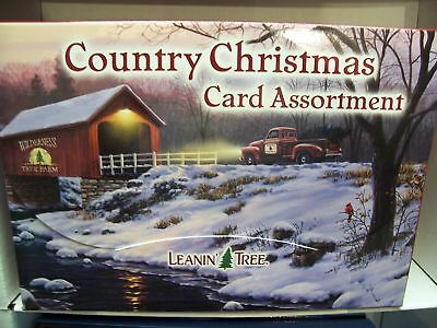 Leanin Tree Country Christmas Cows Farmlife Christmas Cards New !