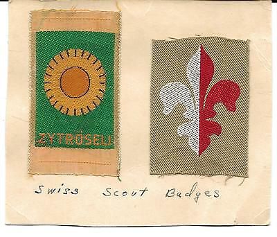 Two Swiss Scout Badges (Scan 514)