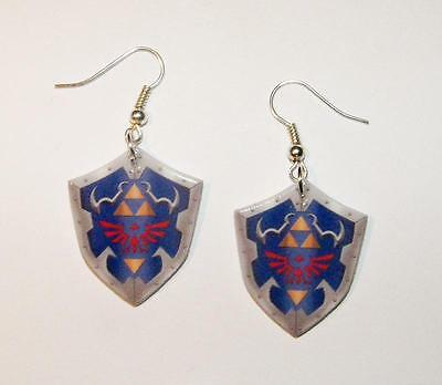 New Legend of Zelda Shield earrings Hand made Video Game earrings
