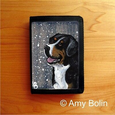 GREATER SWISS MOUNTAIN  Dog TRI FOLD WALLET by Amy Bolin SWISSY