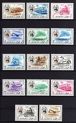2112-AJMAN-ARABIA-MEANS OF TRANSPORT.1967.-Yvt.Set 74+Airmail 14.Serie NUEVA MNH