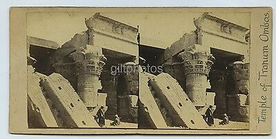 2 Stereoviews Of Egypt By Francis Frith c1860s