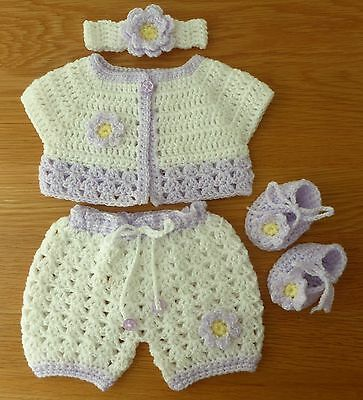 """Hand Knitted Crochet Dolls Clothes - 17""""/19"""" Doll, Reborn"""