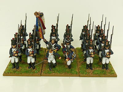 28mm Napoleonic French Line Infantry Regiment - Painted & Based - 24 Figures