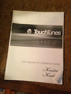 Touch Tunes Maestro operators manual pinball arcade digital jukebox