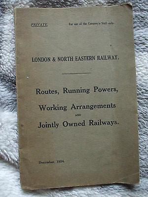 A LNER book Routes, Running Powers working arrangements & Jointly owned Rly's