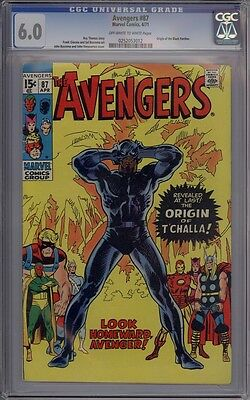 Avengers #87 - CGC Graded 6.0 - Origin Of The Black Panther