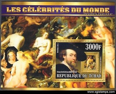 TCHAD 2015-14 Paintings Peintures Malerei Caravage Rembrandt Rubens (MNH)