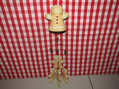 Pottery Gingerbread Man Wind chime