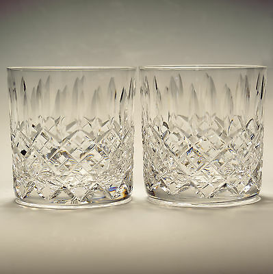 Stuart Crystal Cambridge Pair Whisky Dram Glasses Height 3 1/4""