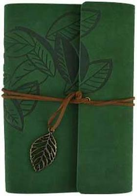 """Soft Green Suede """"Leaf"""" Book of Shadows Journal!"""