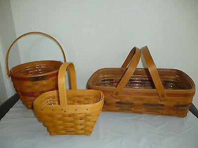1994 Longaberger Baskets Christmas Jingle Bell Basket with Protector + 2 more