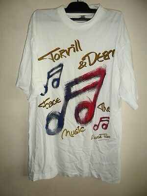 Vintage 1994 Torvill and dean ice skating  face the music world tour tshirt XL