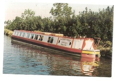 THE 'SAUCY SUE' on Grand Union Canal nr Weedon unused vintage postcard