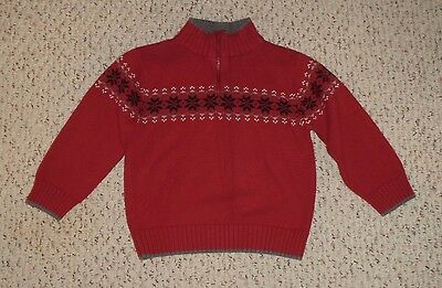 Red Gymboree Sweater w/ Black Snowflakes, Holiday Classics, Size 3, VGUC