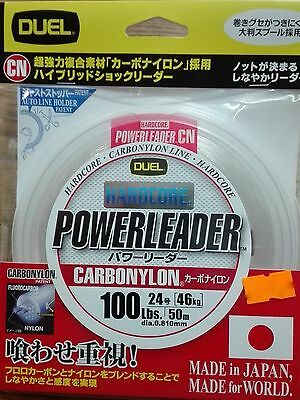DUEL HARDCORE POWERLEADER CARBONYLON FLUOROCARBON 100lbs 50m dia. 0.810mm JAPAN